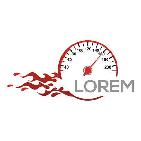car speed: Speedometer   vector car speed fast