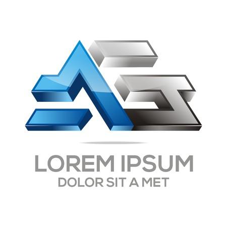 firma: vector Letter AG Alphabet Illustration