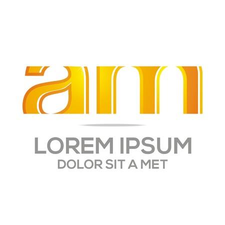 am: Business Creative Letter AM Company Design Icon