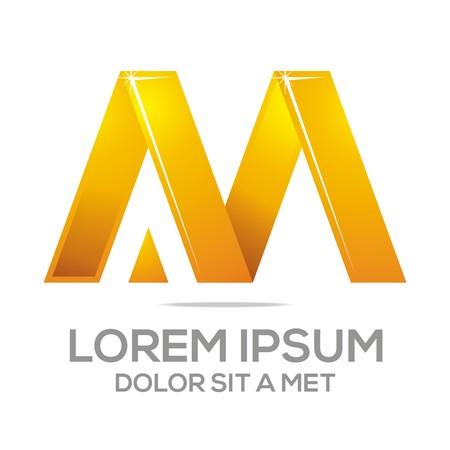 Business Creative Letter AM Company Design Icon