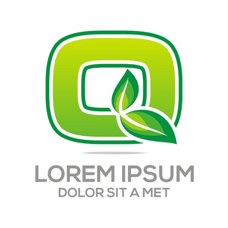 3 dimensions: Logo Business Letter O Leaf Concept icon