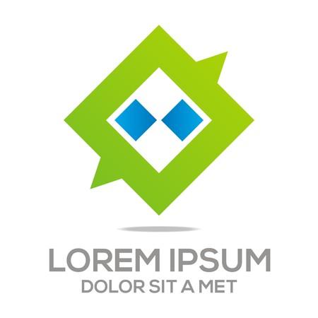 Logo Parlez vectorielle Box stylisé chat Communication Connexion