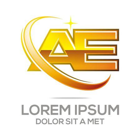 e systems: Logo Letter A E Icon Abstract
