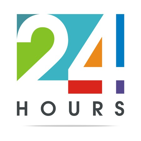 twenty four hours: 24-hour Business Logo Client Vector Design
