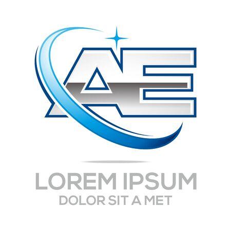Logo Brief AE Icon Zusammenfassung Standard-Bild - 45712714