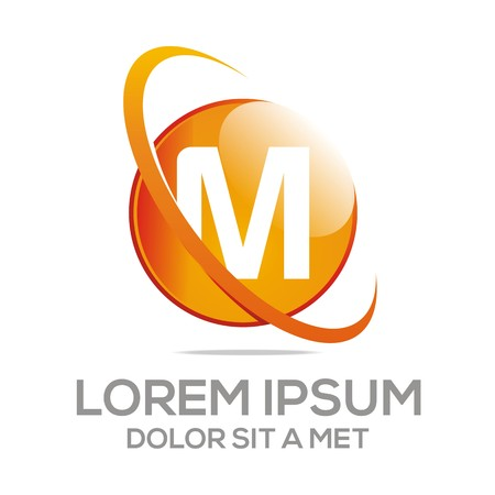 global logo: Logo Abstract Alphabet Letter M Vector Circle