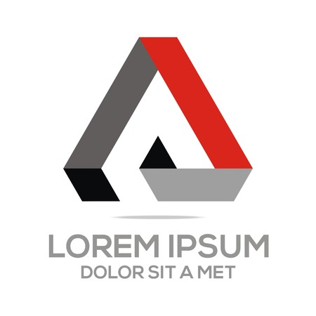 Logo Abstract Triangle design Vector
