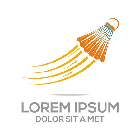 Logo Abstract Badminton Tournament Competition Illustration