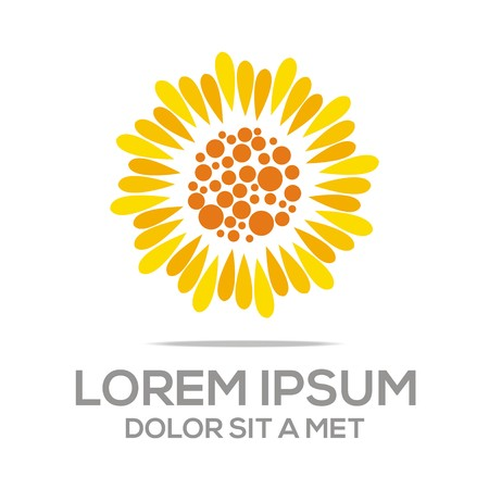 Logo Beauty Sunflower Flora Konzept Ökologie Natur Standard-Bild - 45116841