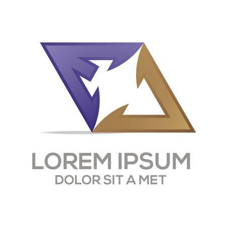 business letter: Abstract logo av symbol element logo template vector