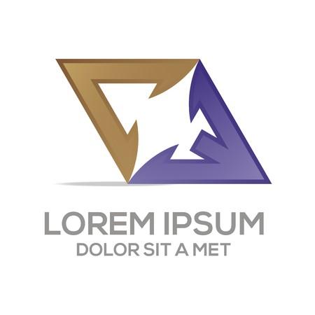 av: Abstract logo av symbol element logo template vector