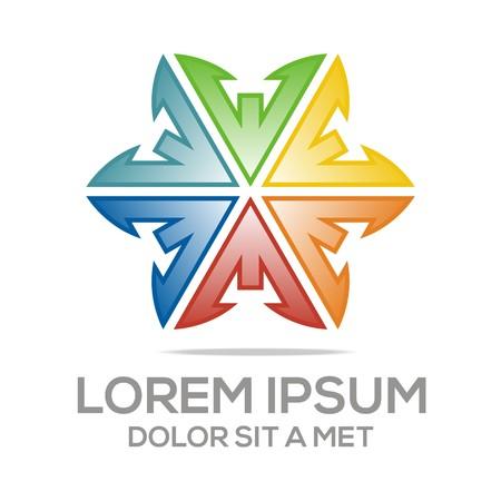 stone mason: Abstract logo av star symbol element logo template vector Illustration