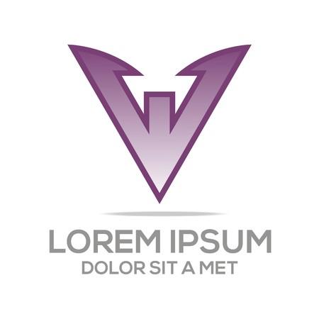 av: Abstract logo av star symbol element logo template vector Illustration