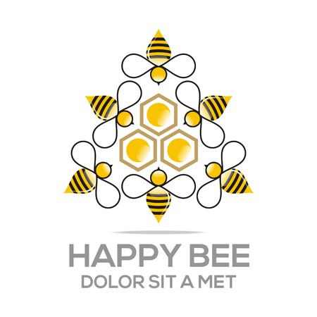 nectar: Logo Beehive Sweet Natural And Honeycomb Design