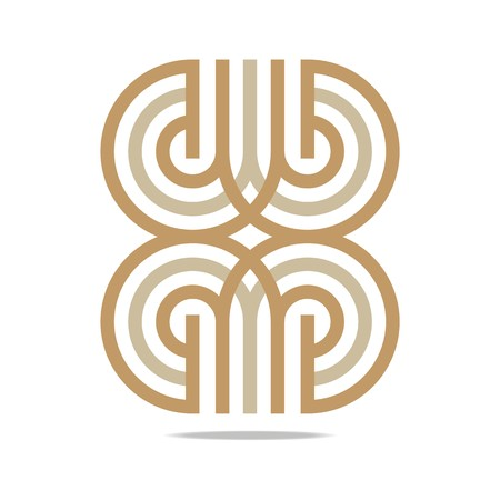 council: Logo Abstract Infinity letter line Corporation Illustration