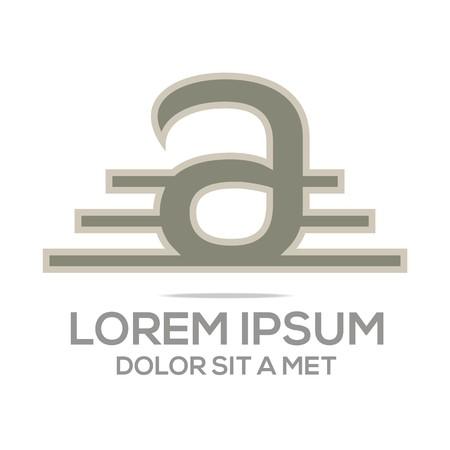 Logo Vector AE Lettermark Business