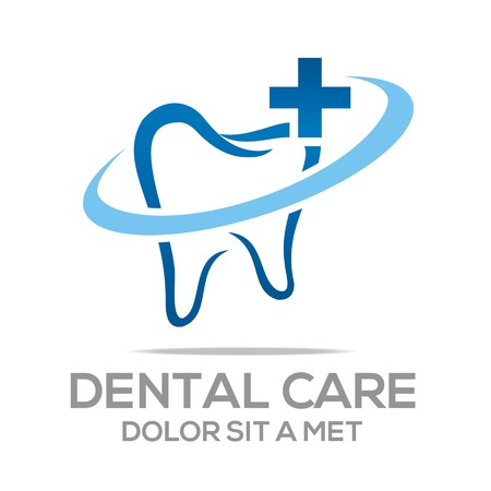 dental clinic: Logo Dental Healthy Care Tooth Protection Oral Illustration