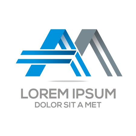 am: Logo Vector AM Lettermark Abstract Business Illustration