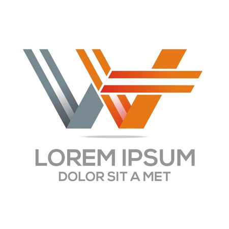 color consultant: Logo Vector W Lettermark Abstract Business