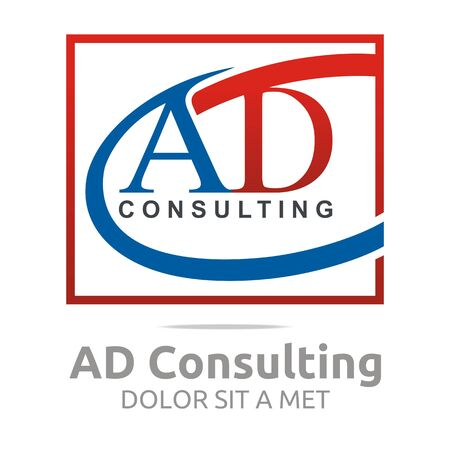 firma: Logo Letter AD Consulting Icon Business