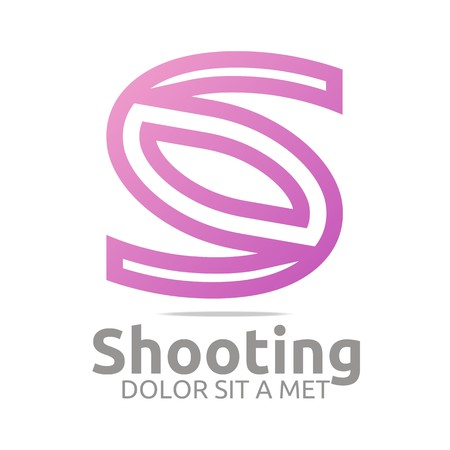 construction firm: Logo letter s shooting icon business vector Illustration
