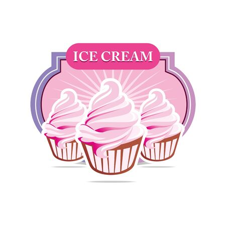 flavour: Logo Ice Cream strawberry flavour cup