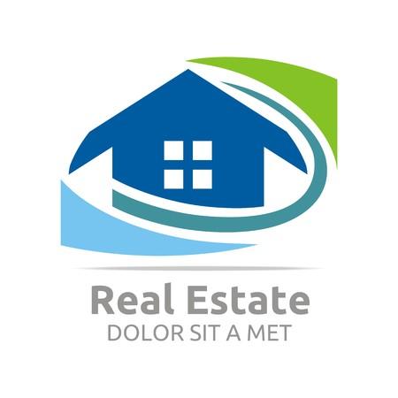 roof profile: Logo Building Vector Real Estate Design