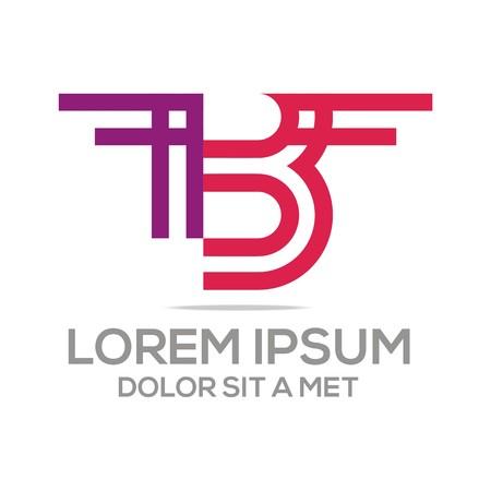 business letter: Logo Vector Alphabet B letter Elegant Illustration
