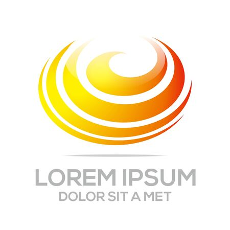 lighting button: Logo Idea Imagination Concept Icon Circle Spin