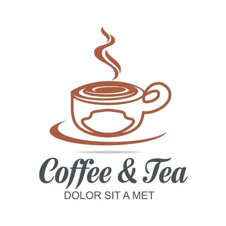 granule: Logo Vector Sketch of Coffe Cup Hot Chocolate Granule
