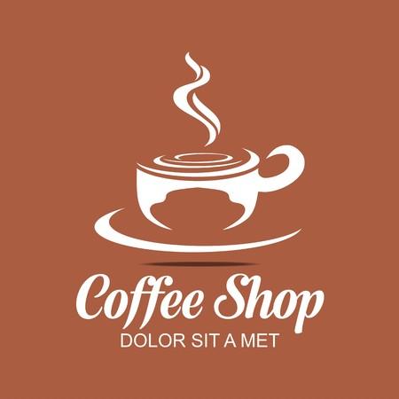 Logo Vector Sketch of Coffe Cup Hot Chocolate Granule