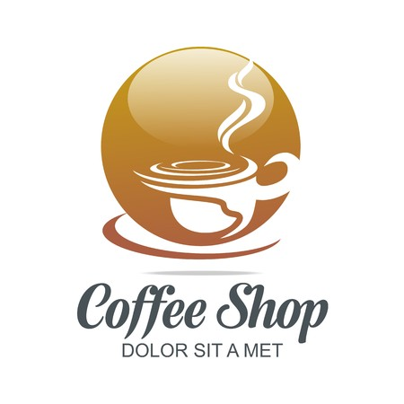 fumes: Logo Vector Sketch of Coffe Cup Hot Chocolate Granule