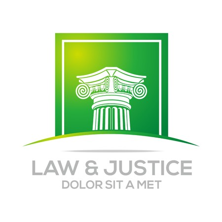 magistrate: Logo Vector Law Building and Justice