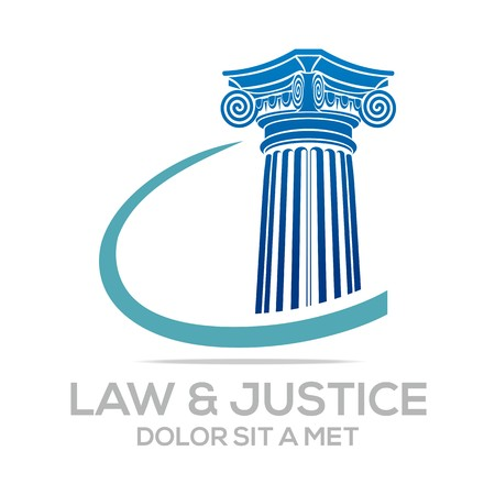 judicature: Logo Vector Law Building and Justice