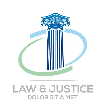 Logo Vector Law Building and Justice
