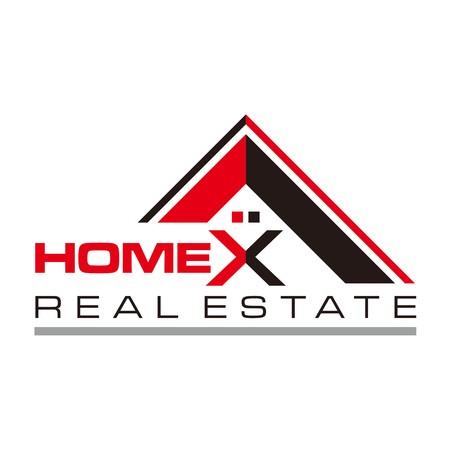 Real estate Home Card Illustration Construction Company Logo