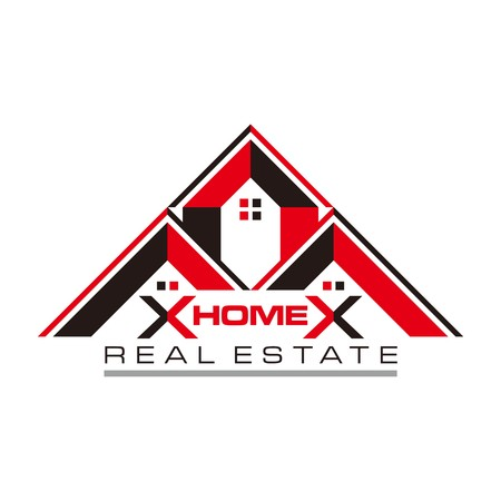 construction logo: Real estate Home Card Illustration Construction Company Logo
