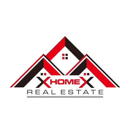foreclosure: Real estate Home Card Illustration Construction Company Logo