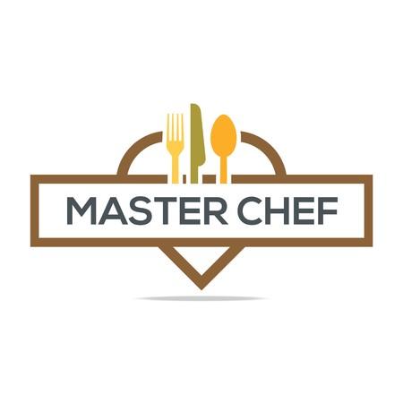 dinner plate: Besteck Love Kitchen Set Utensils Restaurant Logo Illustration