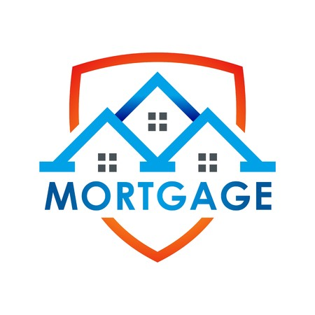 hypothec: Real estate Mortgage Home Card Illustration Construction Company Logo