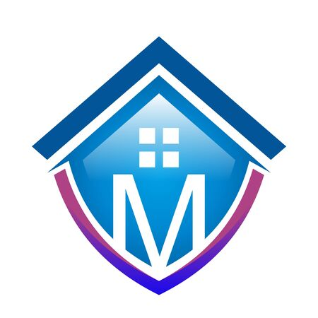 foreclosure: Real estate Mortgage Home Card Illustration Construction Company Logo