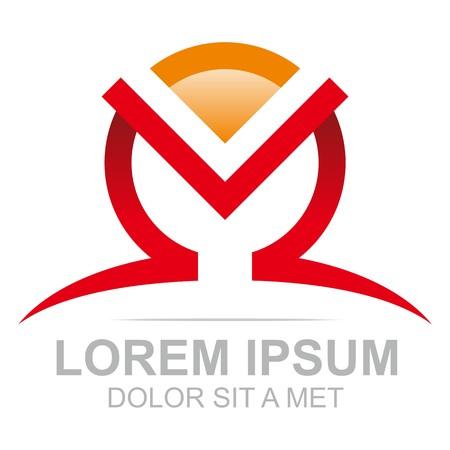 set symbols: Logo Combination of Alphabet M Art Collection Illustration