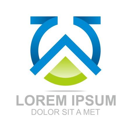 set symbols: Logo Combination of Alphabet W Art Collection Illustration