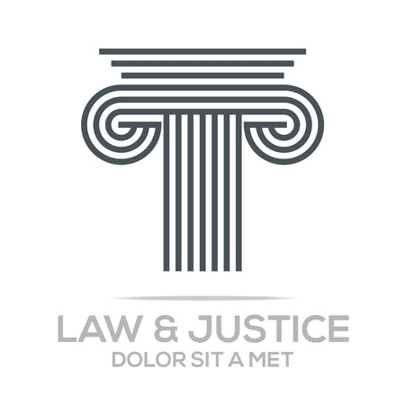 court: Logo Vector Law Building and Justice