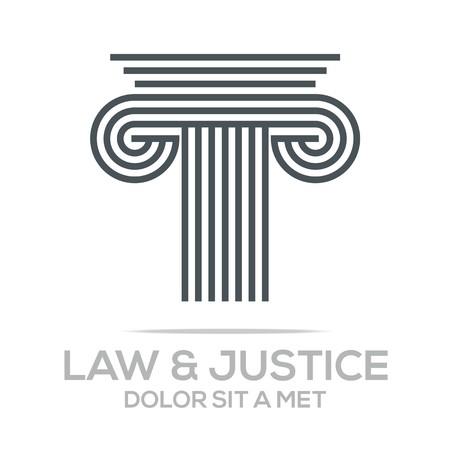 Logo Vector Law Building en Rechtvaardigheid
