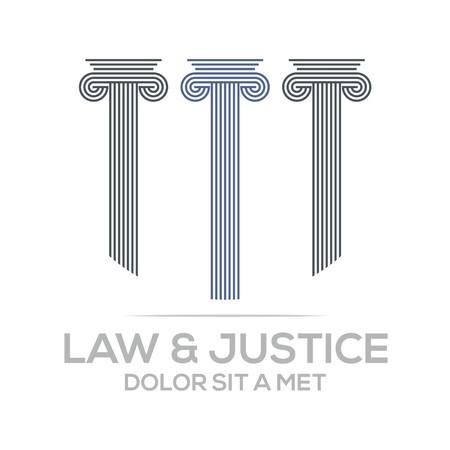 prosecutor: Logo Vector Law Building and Justice