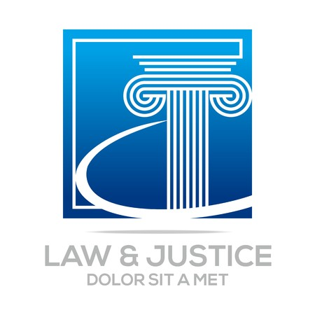 attorney: Logo Vector Law Building and Justice