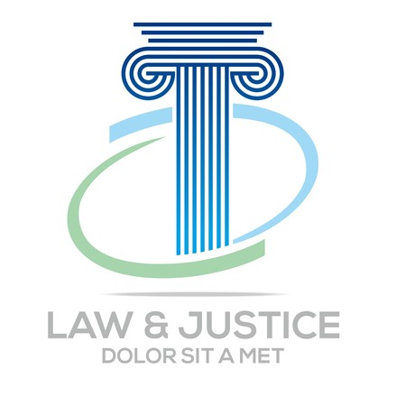 prison house: Logo Vector Law Building and Justice