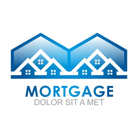 Real estate Mortgage Home Card Illustration Construction Company Logo