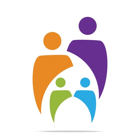 safer: Logo Family Childrens People With Kids, Organization Social Team
